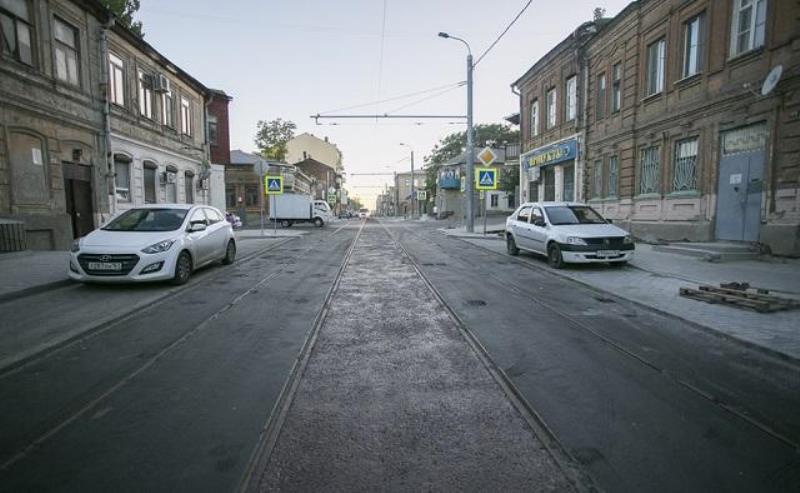 На Станиславского в Ростове неправильно положили рельсы