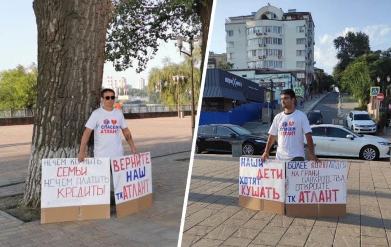 В Ростове торговцы с закрытых рынков устроили пикеты